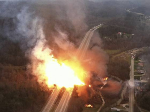 This huge explosion was under publicized and yet melted I-77 in West Virginia.