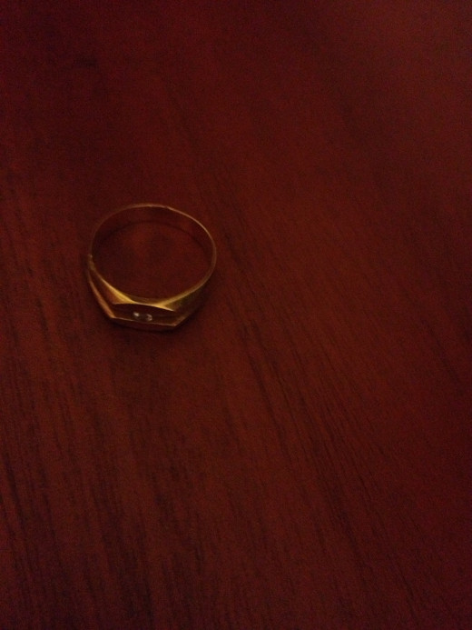 22k gold ring