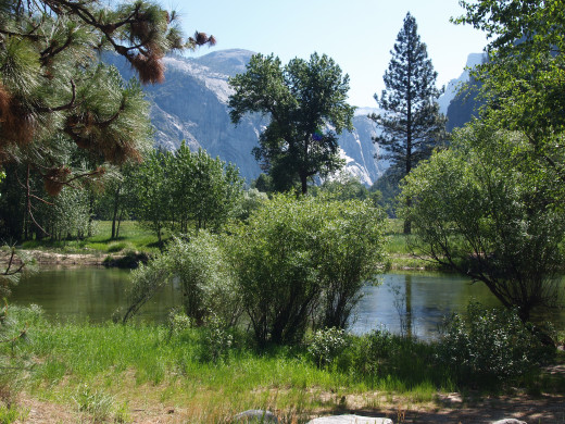 Mirror Lake in Yosemite Valley