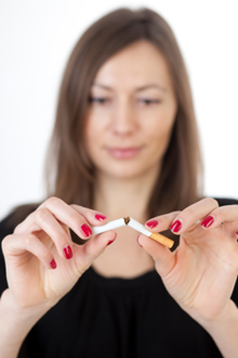 Smoking and other bad habits are hard to break.