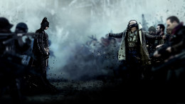Batman (Christian Bale) faces off against Bane (Tom Hardy) in the final installment of the Dark Knight trilogy directed by Christopher Nolan.