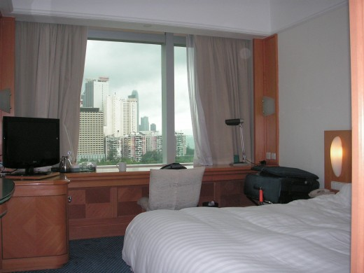 The Harbour View rooms are quite spacious and offer spectacular views
