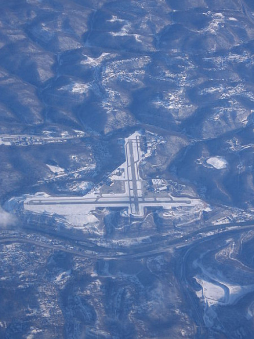 Aerial View of Yeager Airport, Charleston, WV