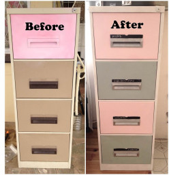 diy filing cabinet respray