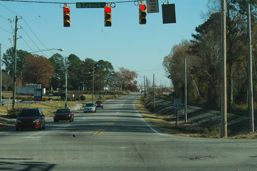 Is this really a major road? Somewhere in Goldsboro.
