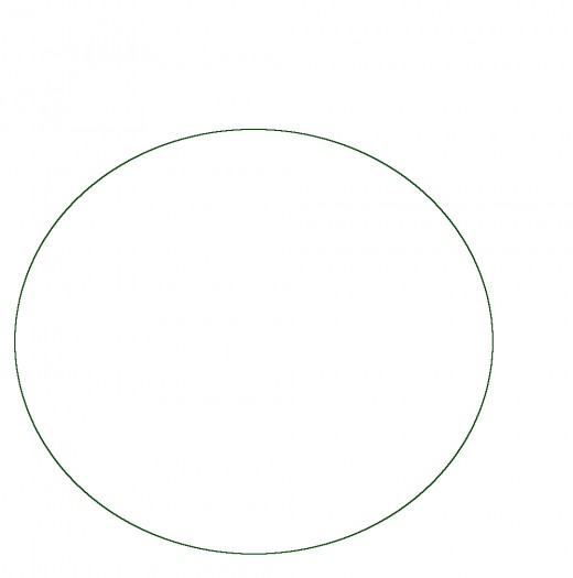 This can be made by drawing around a circular object and then doing it again, side by side.