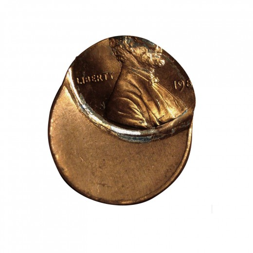 1980's 50% off center Lincoln cent