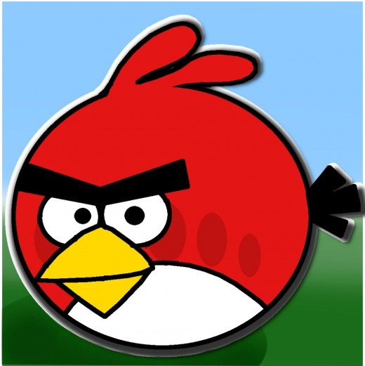 How To Draw RED ANGRY BIRD