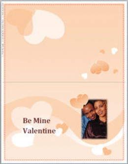 Here is one Valentine's Day card template available in Word.