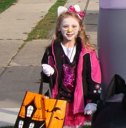 Grace loved her 'homemade' Hello Kitty costume!