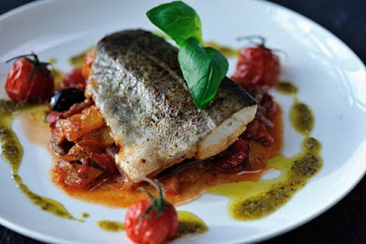 Baked Cod with Peperonata from COOK frozen foods