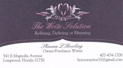 My business card logo I used to head the letter
