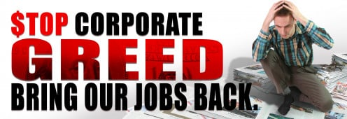 One of the results of corporate greed...loss of jobs overseas!
