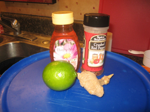 some of the ingredients I used in my chicken wings