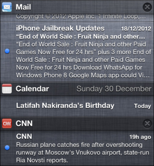 Notification Centre