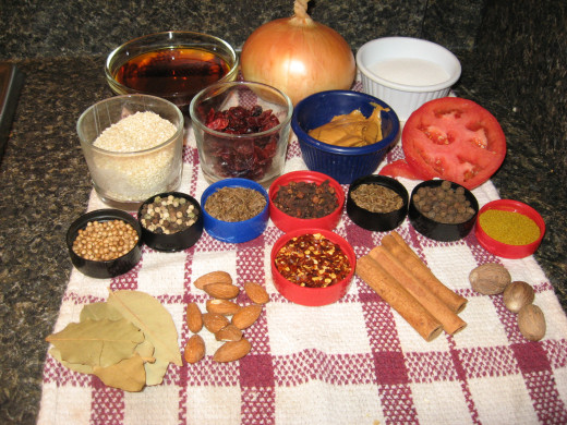 Thai Food includes lots of culinary herbs, spices, and other seasonings.