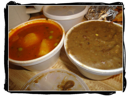 Aloo Mater and Dal Makhani