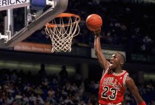Michael Jordan was known to stick his tongue out on a jam and also to close his eyes while shooting a free throw. He was an elite athlete to say the least.