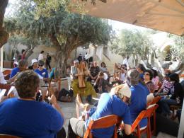 Harp worship at Zion David's City, Jerusalem, with international harp instructor Michael David