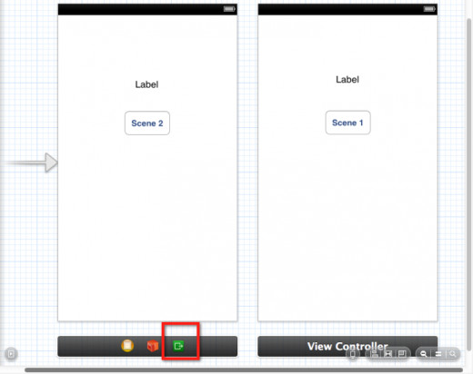 iOS 6 storyboard layout and Exit object