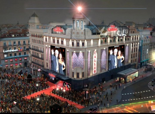 Callao Square, center of Gran Via's theater life, at barely 200 meter from Ballesta street, former red light district.