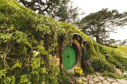Bag End, the Hobbit's Home, New Zealand. Used by permission.