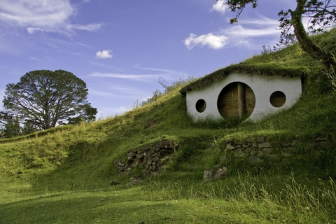 Remains of movie set 'Lord of The Rings' close to Mata Mata on New Zealand North Island. Used by permission.