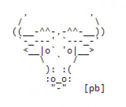 Year of the Ox: Happy New Year ASCII Text Art - ASCII Cows Too