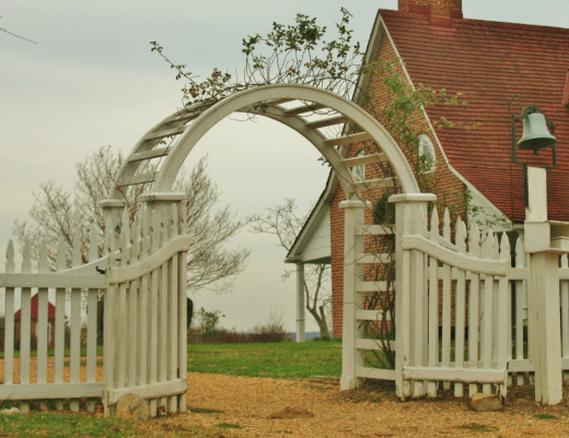This pretty gate leads to Sotterley's gardens.