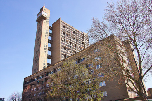 Trellick Tower in West London, England