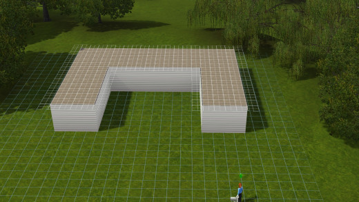 Covering the walls to make your greenhouse appealing to your sims.