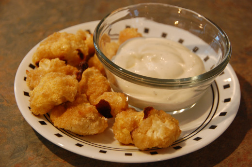buffalo cauliflower bites, must make for next football game