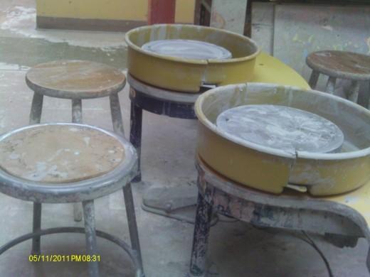 Pottery stool