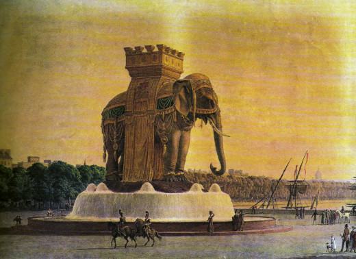 Drawing of the Elephant of the Bastille