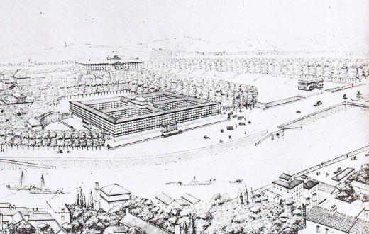 Jacques Cellerier's sketch for the Palais des Archives.