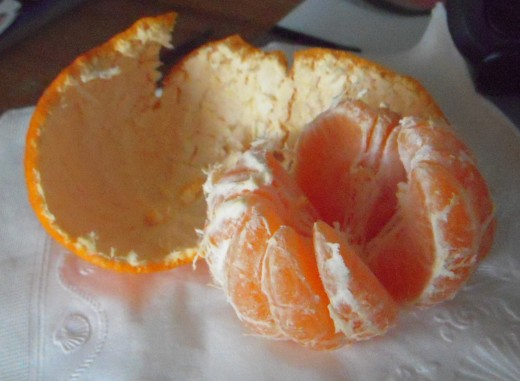 Satsumas are easy to peel and sweet to eat.