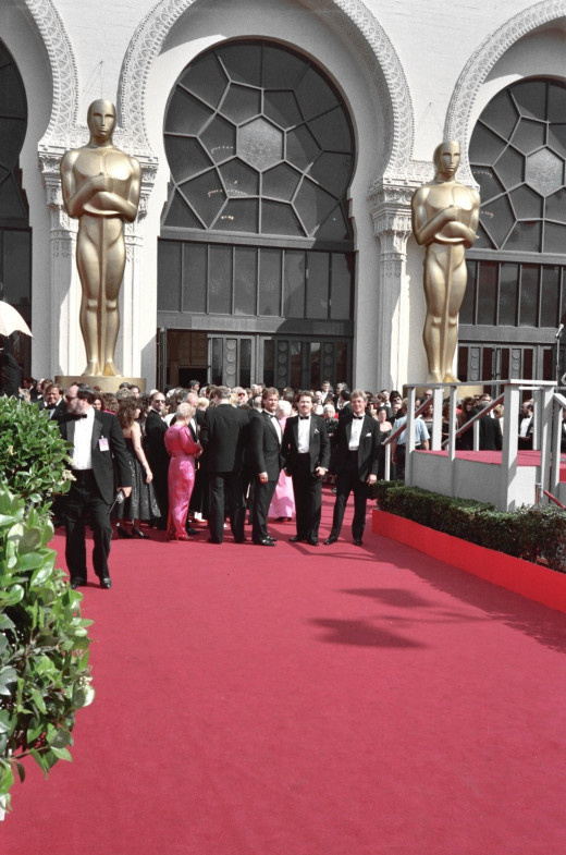 Recreate an Oscars red carpet with supplies from a local party store.