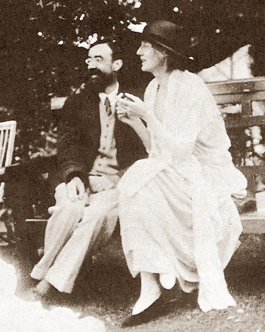 "Author of ""Eminent Victorians,"" biographer Lytton Strachey, with novelist Virginia Woolf. They belonged to the historic Bloomsbury group of 20th-century British writers."