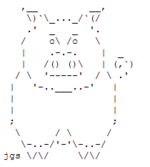 One Line Ascii Art Animals : Dog ascii art related keywords long tail