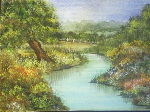 Brenda Cumming, Gweddus Art. Original watercolour landscape