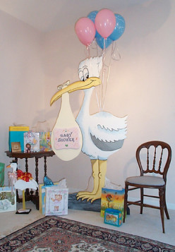 Baby showers for men, a musing