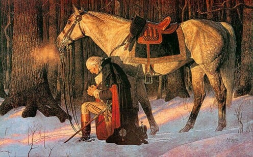 Perhaps our GREATEST President - General Washington praying during the Revolutionary War.  No wonder we call him the Father of our Nation!
