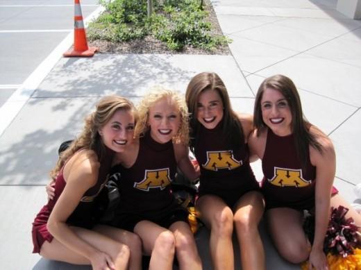 They all look like cheerleaders!