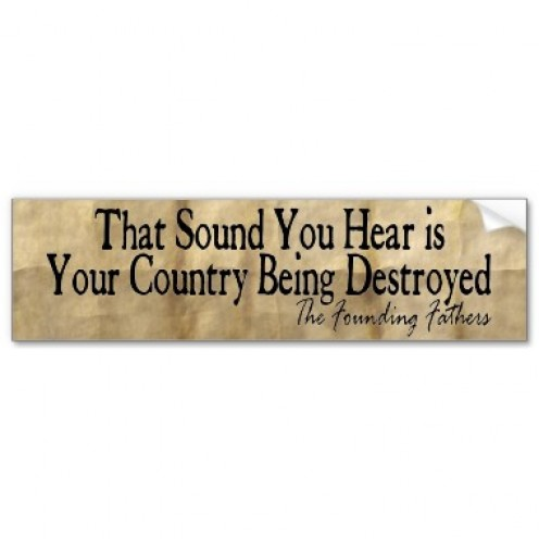 It is time for our country to return to its roots before we destroy it completely!