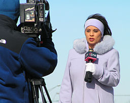 TV reporters need to be ready for anything!