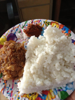A typical Sri Lankan New Year meal