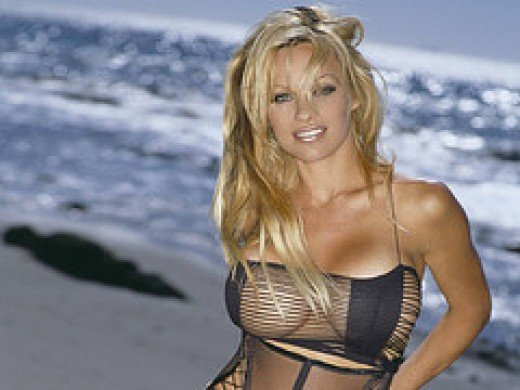 Pamela Anderson at the Beach- Where Else?