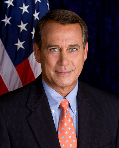 Speaker of the House of Representatives, Rep. John Boehner, Ohio