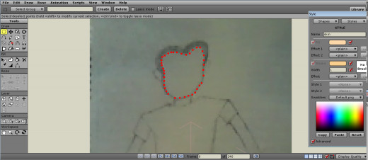 Drawing the Outline of Your Image