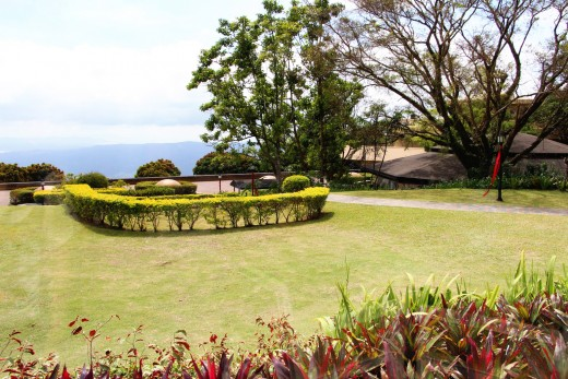 Enjoying Nature in Taal Vista Hotel